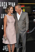 Kevin Costner &amp; wife Christine Baumgartner at the Los Angeles premiere of his movie &quot;Jack Ryan: Shadow Recruit&quot; at the TCL Chinese Theatre, Hollywood.<br /> January 15, 2014  Los Angeles, CA<br /> Picture: Paul Smith / Featureflash