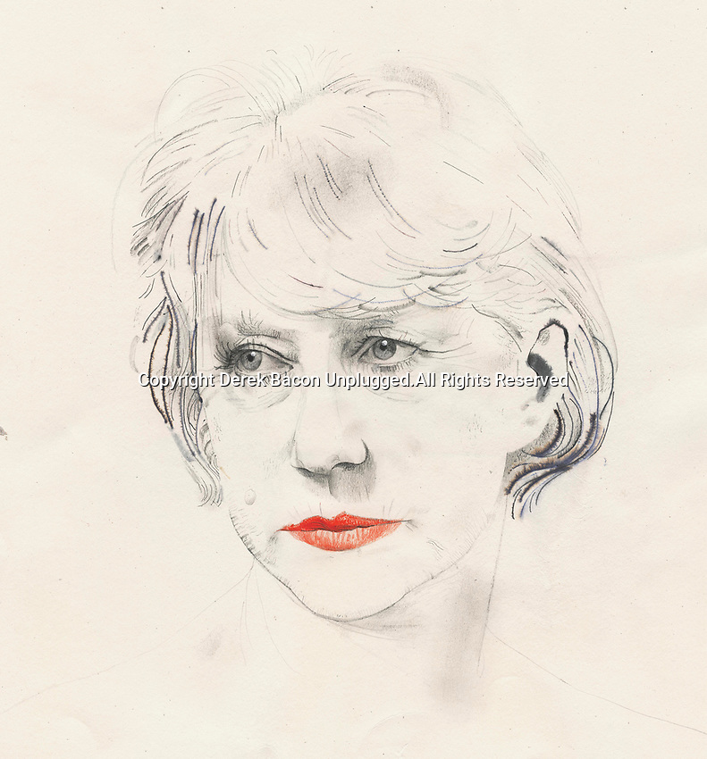 Drawing of Helen Mirren