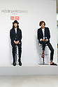 (L to R) Fashion model Louis Kurihara and French model and fashion designer Ines de la Fressange, attend a media event for Uniqlo x Ines de La Fressange AW17 collection, on September 5, 2017, Tokyo, Japan. Japanese casual clothing chain Uniqlo and French fashion icon Ines de la Fressange are collaborating with a Fall/Winter 2017 collection which is being sold in selected Uniqlo stores from September 1st. (Photo by Rodrigo Reyes Marin/AFLO)