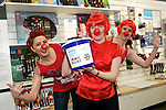 Pix: Shaun Flannery/shaunflanneryphotography.com...COPYRIGHT PICTURE>>SHAUN FLANNERY>01302-570814>>07778315553>>..19th March 2011...............Lakeside Village, Doncaster..Comic Relief Event..L-R Tina McGuire, Ruth Bullock, Claire Patterson of Amefa.