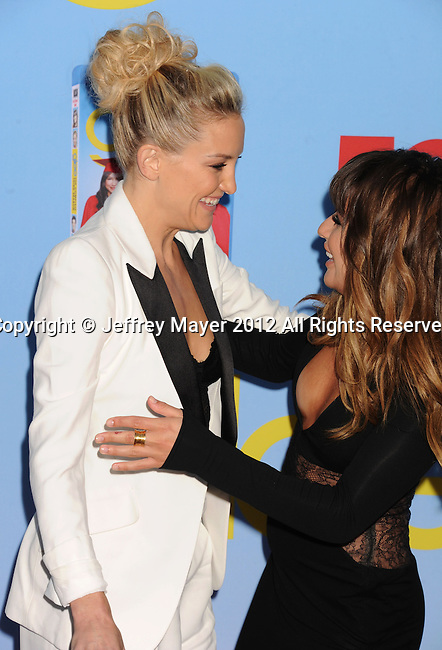 HOLLYWOOD, CA - SEPTEMBER 12: Kate Hudson and Lea Michele arrive at the 'GLEE' Premiere Screening And Reception at Paramount Studios on September 12, 2012 in Hollywood, California.