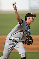 Hagerstown starting pitcher Brad Meyers (37) in action versus Kannapolis at Fieldcrest Cannon Stadium in Kannapolis, NC, Sunday, August 12, 2007.