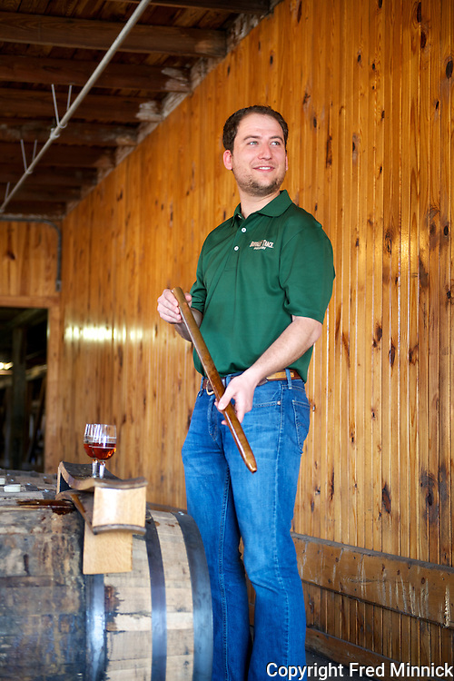Beau Beckman is the great, great, great, great grandson of the famous Kentucky distiller E.H. Taylor. Beckman currently works for the Buffalo Trace Distillery, which owns the rights to the E.H. Taylor name.