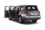 Car images close up view of a 2020 Infiniti QX80 Luxe 5 Door SUV doors
