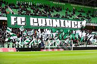 GRONINGEN - Voetbal, FC Groningen - ADO Den Haag,  Eredivisie , Noordlease stadion, seizoen 2017-2018, 11 -02-2018,   fans Groningen