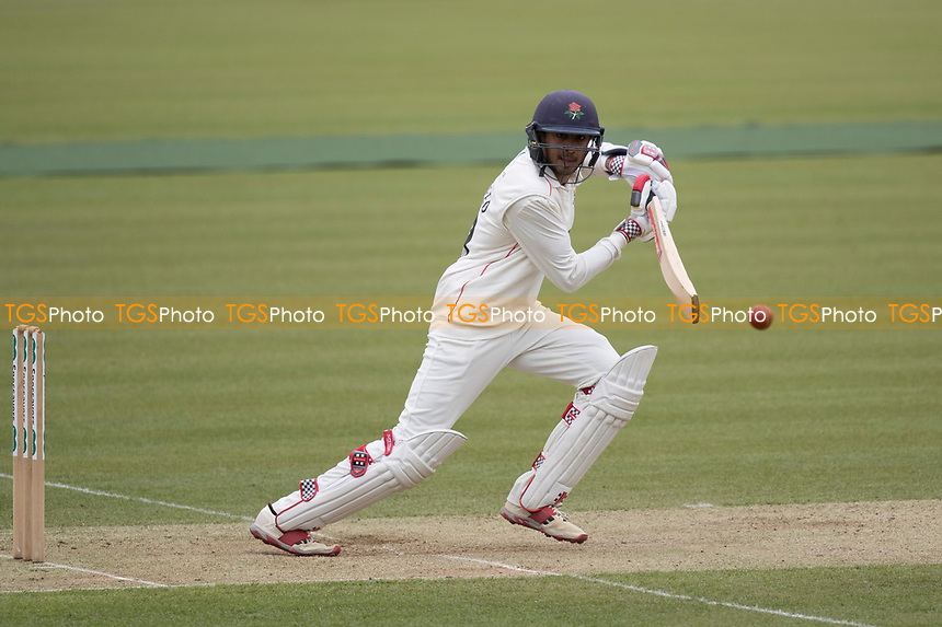 Haseeb Hameed of Lancashire CCC drives in front of point during Middlesex CCC vs Lancashire CCC, Specsavers County Championship Division 2 Cricket at Lord's Cricket Ground on 12th April 2019