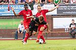 20.07.2019, Heinz Detmar Stadion, Lohne, Interwetten Cup 1. FC Köln vs SV Werder Bremen<br /> <br /> im Bild / picture shows <br /> Rafael Czichos (Neuzugang Koeln #05)<br />  fouluz Yuya Osako (Werder Bremen #08)<br /> Kingsley Ehizibue (Koeln #19)<br /> <br /> Foto © nordphoto / Kokenge