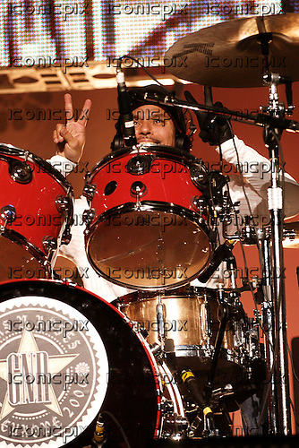 GUNS N' ROSES - drummer Brain Mantia - performing live at the Hammerstein Ballroom in New York USA - 12 May 2006.  Photo credit: George Chin/IconicPix