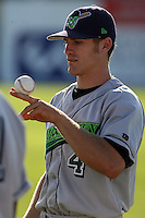 June 25th 2008:  Kevin Mattison of the Jamestown Jammers, Class-A affiliate of the Florida Marlins, during a game at Dwyer Stadium in Batavia, NY.  Photo by:  Mike Janes/Four Seam Images
