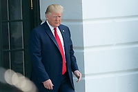 United States President Donald J. Trump speaks to the media at the White House in Washington, DC  August 7, 2019 before departing to visit El Paso, Texas and Dayton, Ohio after recent shootings in those cities. <br /> CAP/MPI/RS<br /> ©RS/MPI/Capital Pictures