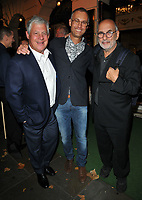 Sir Cameron Mackintosh, Michael Le Poer Trench and Alan Yentob at the &quot;Young Frankenstein&quot; press night, Garrick Theatre, Charing Cross Road, London, England, UK, on Tuesday 10 October 2017.<br /> CAP/CAN<br /> &copy;CAN/Capital Pictures