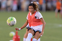 Houston, TX - Saturday July 16, 2016: Nadia Nadim prior to a regular season National Women's Soccer League (NWSL) match between the Houston Dash and the Portland Thorns FC at BBVA Compass Stadium.