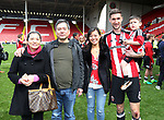 Sheffield United's Chris Basham and his family during the League One match at Bramall Lane, Sheffield. Picture date: April 30th, 2017. Pic David Klein/Sportimage