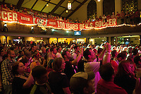 COLUMBUS, OH - US Soccer Pep Rally at the Blue Wave hall in downdown Columbus. The United States Men's National Team will compete against Mexico on Tuesday, September 10, in a World Cup Qualifying match.
