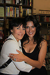 "Another World's Linda Dano (OLTL) poses with castmate Alicia Coppola (played ""Felicia's"" daughter ""Lorna"" as Alicia speaks and signs her book ""Gracefully Gone"" - a fusion of two journals: her father Matthew L. Coppola Sr. and hers - on August 23, 2013 at Book Revue, Huntington, New York. (Photo by Sue Coflin/Max Photos)"