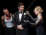 R. Lowe & Amy Spanger with Billy Ray Cyrus making his Broadway Debut Curtain Call  in 'Chicago' at the Ambassador Theatre in New York City on 11/05/2012