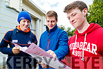 Gaelcholáiste Chiarraí Leaving Certificate students pictured on Wednesday morning last were l-r: Adam Maunsell (Abbeydorney), Lachlann Morrison (Ardfert) and Cian Keenan (Listowel).