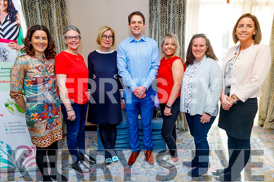 At the Multiple Sclerosis Wellness Event in the Rose Hotel on Saturday.<br /> L to r: Ailish Brosnan, Gillian O'Sullivan, Helena Moore, Conor Kerley,Susan Carey, Susan Coute and Madeline Doyle.