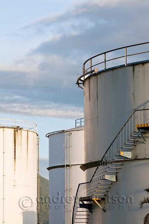 Fuel storage tanks at Portsmith.  Cairns, Queensland, Australia