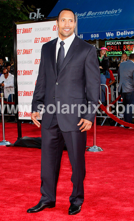 "**ALL ROUND PICTURES FROM SOLARPIX.COM**.**SYNDICATION RIGHTS FOR UK, SPAIN, PORTUGAL, AUSTRALIA, S.AFRICA & DUBAI (U.A.E) ONLY**.Arrivals for the world premiere of ""Get Smart"" held at the Westwood Village Theatre, Westwood, CA, USA. 16th June 2008..This pic: Dwayne Johnson..JOB REF: 6657 PHZ/Albert L. Ortega    .DATE: 16_06_2008.**MUST CREDIT SOLARPIX.COM OR DOUBLE FEE WILL BE CHARGED* *UNDER NO CIRCUMSTANCES IS THIS IMAGE TO BE REPRODUCED FOR ANY ONLINE EDITION WITHOUT PRIOR PERMISSION*"