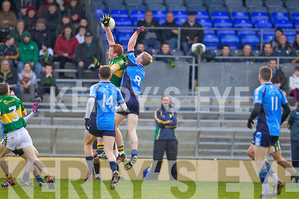 Johnny Buckley Kerry in action against Rurai Deane the IT Tralee in the preliminary round of the McGrath Cup at Fitzgerald Stadium on Saturday.