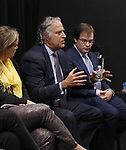 Themis Gomes, Stewart F. Lane and Hal Berman attends the Theater Resources Unlimited (TRU): Stream It and They Will Come: How Digital Capture Builds Audience Awareness at The Playroom Theatre on April 26, 2018 in New york City.