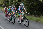 4 man early breakaway including Daniel Turek (Cze) Israel Cycling Academy, Loic Chetout (FRA) Cofidis Solutions Credits and Mickael Delage (FRA) Groupama-FDJ during Stage 1 of the Route d'Occitanie 2019, running 175.5km from Gignac-Vallée de l'Hérault to Saint-Geniez-d'Olt-et-d'Aubrac , France. 20th June 2019<br /> Picture: Colin Flockton | Cyclefile<br /> All photos usage must carry mandatory copyright credit (© Cyclefile | Colin Flockton)