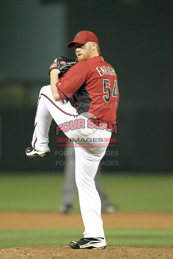 Barry Enright #54 of the Arizona Diamondbacks plays against the Chicago White Sox in a spring training game at Salt River Fields on March 10, 2011 in Scottsdale, Arizona. .Photo by:  Bill Mitchell/Four Seam Images.