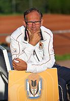 August 24, 2014, Netherlands, Amstelveen, De Kegel, National Veterans Championships, Coach Frits Raymakers (NED) <br /> Photo: Tennisimages/Henk Koster