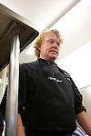 Kenneth Sillman durante el encuentro en jovenes cocineros vascos (Sukatalde) y cocineros suecos