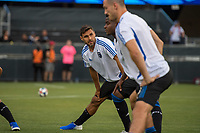 San Jose, CA - Tuesday June 11, 2019: Chris Wondolowski #8 warms up before the US Open Cup match between the San Jose Earthquakes and Sacramento Republic FC at Avaya Stadium.