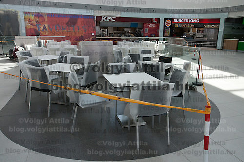 Coffee shops and fast food restaurants in the new Skycourt building at the Budapest Airport in Budapest, Hungary on March 08, 2011. ATTILA VOLGYI