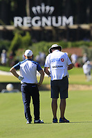 Andy Sullivan (ENG) and caddy Sean on the 10th hole during Thursday's Round 1 of the 2018 Turkish Airlines Open hosted by Regnum Carya Golf &amp; Spa Resort, Antalya, Turkey. 1st November 2018.<br /> Picture: Eoin Clarke | Golffile<br /> <br /> <br /> All photos usage must carry mandatory copyright credit (&copy; Golffile | Eoin Clarke)