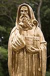 Statue St Benedict's Monastery, Adisham, Haputale, Haputale, Badulla District, Uva Province, Sri Lanka, Asia