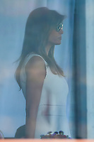 First Lady Melania Trump looks toward the 16th tee during Sunday's final round of the 72nd U.S. Women's Open Championship, at Trump National Golf Club, Bedminster, New Jersey. 7/16/2017.<br /> Picture: Golffile | Ken Murray<br /> <br /> <br /> All photo usage must carry mandatory copyright credit (&copy; Golffile | Ken Murray)