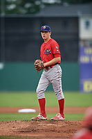 Williamsport Crosscutters starting pitcher Spencer Howard (29) gets ready to deliver a pitch during a game against the Batavia Muckdogs on August 3, 2017 at Dwyer Stadium in Batavia, New York.  Williamsport defeated Batavia 2-1.  (Mike Janes/Four Seam Images)