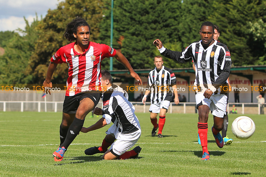 Stefan Payne (L) in action for AFC Hornchurch - AFC Hornchurch vs East Thurrock United - Ryman League Premier Division Football on Non-League Day at The Stadium, Upminster Bridge, Essex - 07/09/13 - MANDATORY CREDIT: Gavin Ellis/TGSPHOTO - Self billing applies where appropriate - 0845 094 6026 - contact@tgsphoto.co.uk - NO UNPAID USE