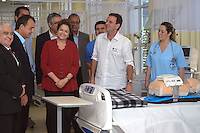RIO DE JANEIRO-06/07/2012-A Presidenta Dilma Rousseff, o Ministro da Saude, Alexandre Padilha, o Governador do Rio, Sergio Cabral e o Prefeito do Rio, Eduardo Paes, inauguram a Coordenacao de Emergencia do Hospital Miguel Couto, na gavea, zona sul do Rio.Foto:Marcelo Fonseca-Brazil Photo Press