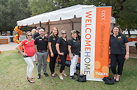 Oxy staff pose during Homecoming, Oct. 25, 2014. (Photo by Marc Campos, Occidental College Photographer)