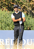 Jyoti Randhawa (IND) on the 12th tee during Round 1 of the 2015 Alfred Dunhill Links Championship at Kingsbarns in Scotland on 1/10/15.<br /> Picture: Thos Caffrey | Golffile
