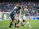 Karim Benzema of Real Madrid battles for the ball with Roberto Rosales of Malaga CF during their La Liga 2016-17 match between Real Madrid and Malaga CF at the Estadio Santiago Bernabéu on 21 January 2017 in Madrid, Spain. Photo by Diego Gonzalez Souto / Power Sport Images