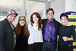 "Billy Freda (on Romance Novel covers, Jane Elissa, singer songwriter Missy Modell, Dale Badway (creator Fame-Wall) & hosting event coming up & Days of Our Lives Loise Sorel - Promo shoot for the annual Broadway Extravaganza in honor of Jane Elissa's Candidacy for Leukemia & Lymphoma Society Woman of the Year and for Hats for Health on April 23, 2012 at the Marriott Marquis Hotel, New York City, New York. In the shoot are Days of Our Live Louise Sorel ""Vivian"", Broadway Bonnie and Clyde Melissa VanDer Schyff and Clay Elder, Dale Badway (Creator Fame-Wall) and host for the upcoming event, Corey Brunish (producer of Bonnie & Clyde) and Billy Freda, Missy Modell (Photo by Sue Coflin/Max Photos)"