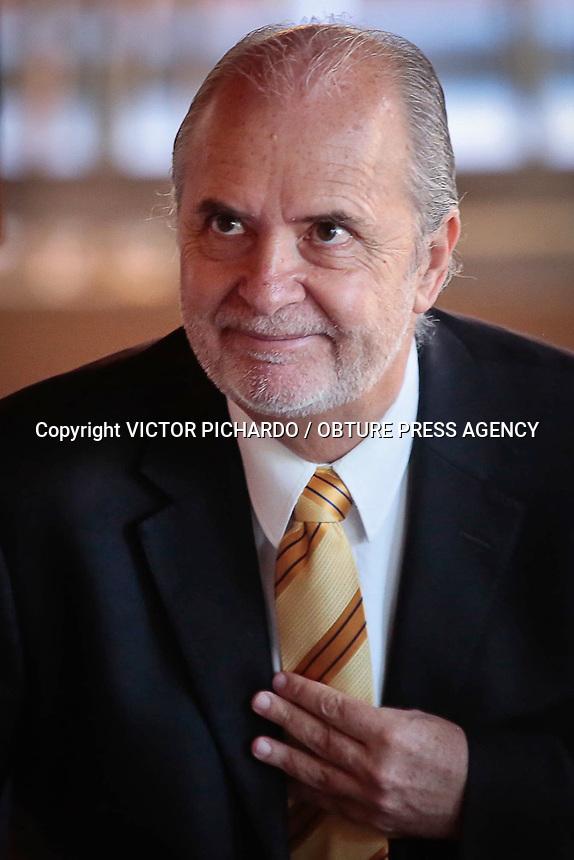 Querétaro, Qro. 07 Octubre 2015.- Rueda de prensa ofrecida por el candidato a la Rectoría de la UNAM, Dr. Javier de la Fuente Hernández. <br /> Foto: Victor Pichardo / Obture Press Agency