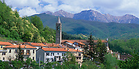 Tuscany, Italy    <br /> Village of Monteluscio in the northern mountainous region of Lungiana of northern tuscany