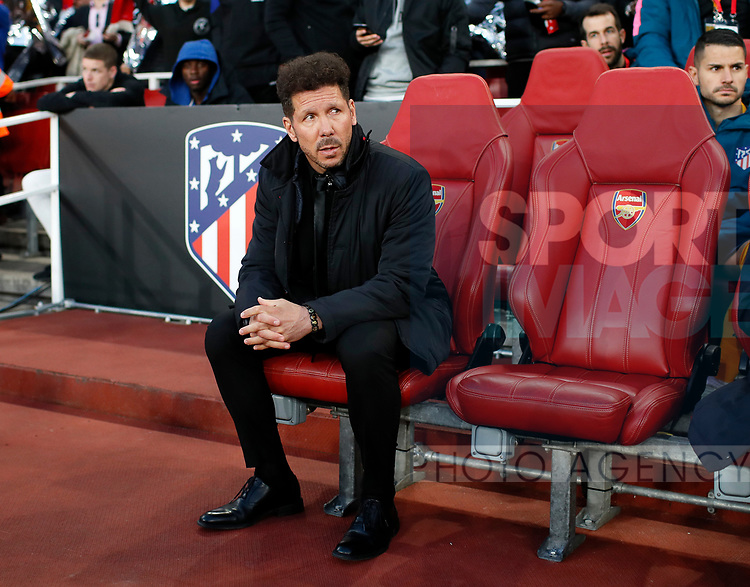 Atletico's Deigo Simeone looks on during the Europa League Semi Final 1st Leg, match at the Emirates Stadium, London. Picture date: 26th April 2018. Picture credit should read: David Klein/Sportimage