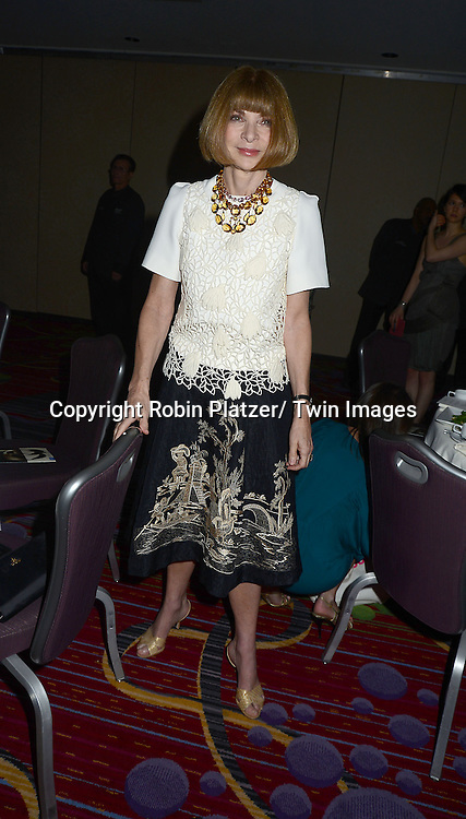 Anna Wintour attends the National Magazine Awards on May 2, 2013 at the Marriott Marquis Hotel in New York City.