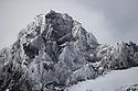 Mountians surrounding Drygalski Fjord, South Georgia. November.