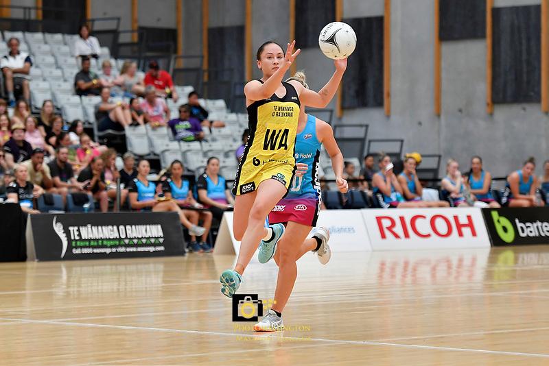 Pulse' Whitney Souness in action during the  Preseason Tournament - Pulse v Steel at Ngā Purapura, Otaki, New Zealand on Sunday 10 February  2019. <br /> Photo by Masanori Udagawa. <br /> www.photowellington.photoshelter.com