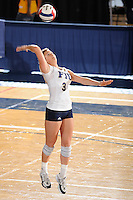 20 November 2008:  FIU outside hitter Yarimar Rosa (3) returns a shot during the FIU 3-1 victory over South Alabama in the first round of the Sun Belt Conference Championship tournament at FIU Stadium in Miami, Florida.