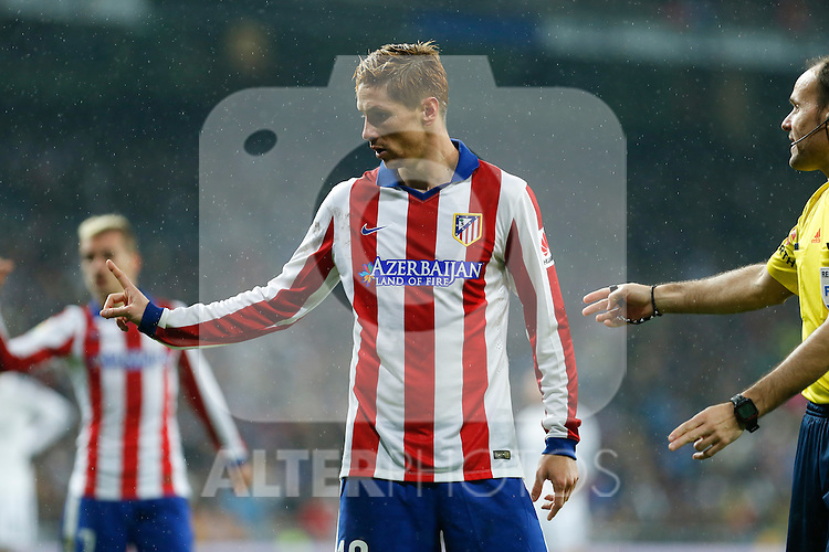Atletico de Madrid´s Fernando Torres during Spanish King´s Cup match at Santiago Bernabeu stadium in Madrid, Spain. January 15, 2015. (ALTERPHOTOS/Victor Blanco)